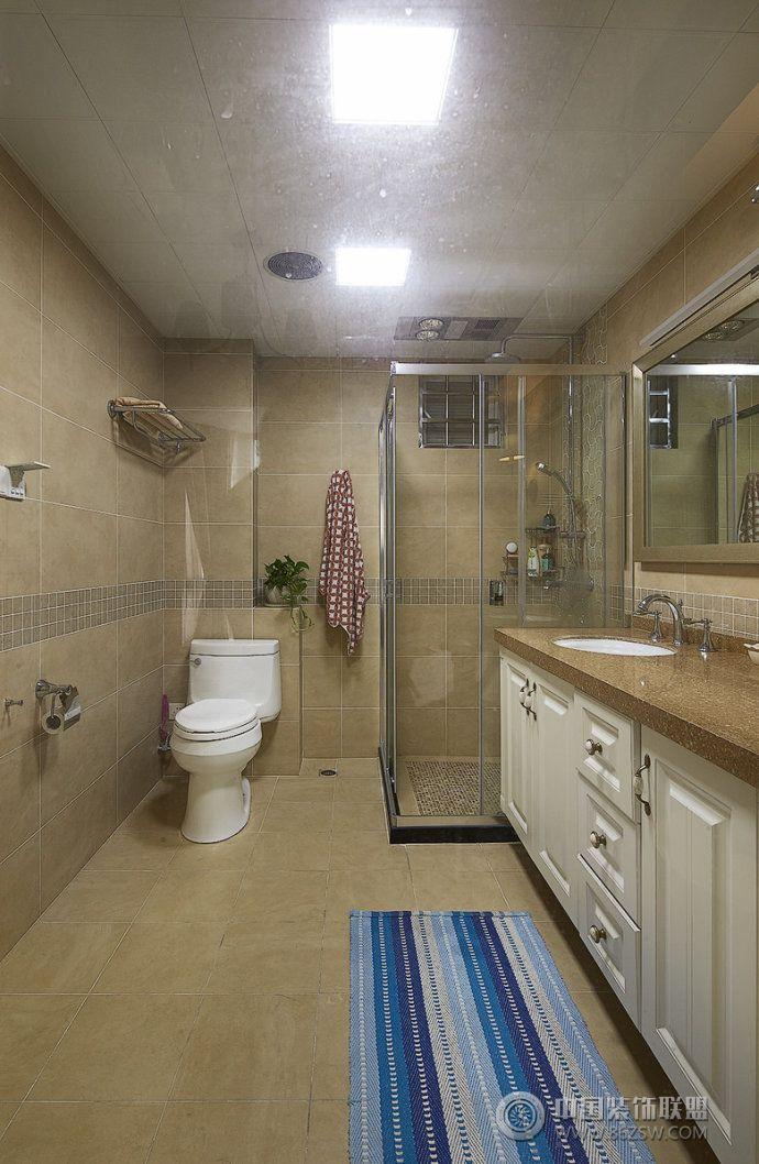 138平美式精品公寓美式卫生间装修图片