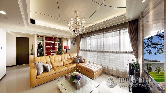 142平现代简欧混搭雅居-客厅装修效果图-八六(中国)