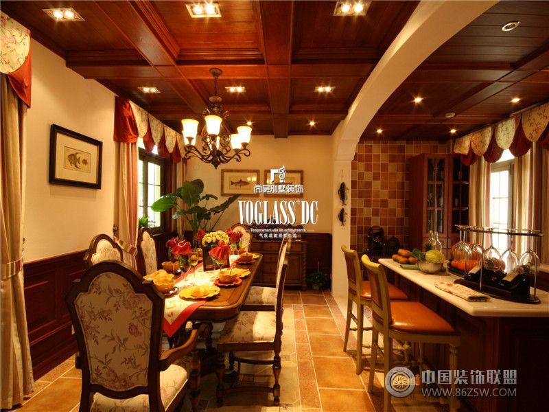 美式乡村风格案例美式餐厅装修图片