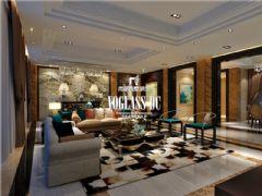 成都尚层装饰别墅装修新中式风格案例欣赏中式风格大户型