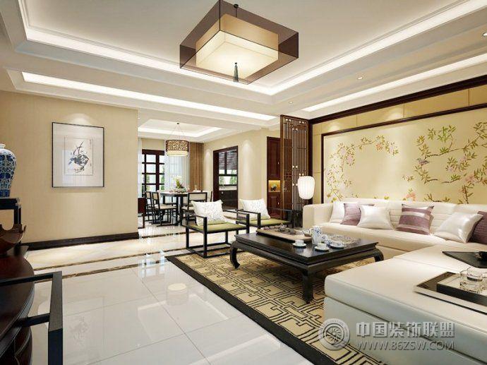 140平新中式时尚雅居 餐厅装修效果图 -140平新中式时尚雅居 餐厅装