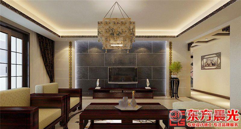 中式风格别墅设计效果图餐厅的红木桌椅完美展现出了整个空间的古典