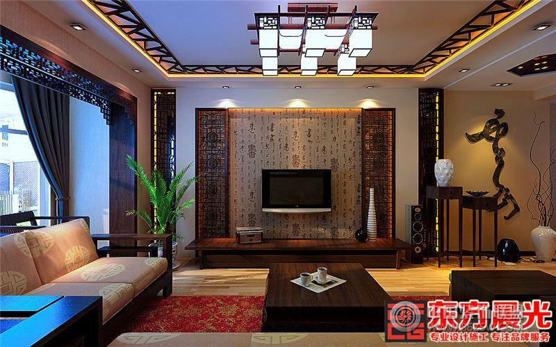 古典别墅简约中式装修效果图餐厅装修图片