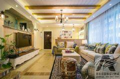 地中海家庭装修地中海风格三居室