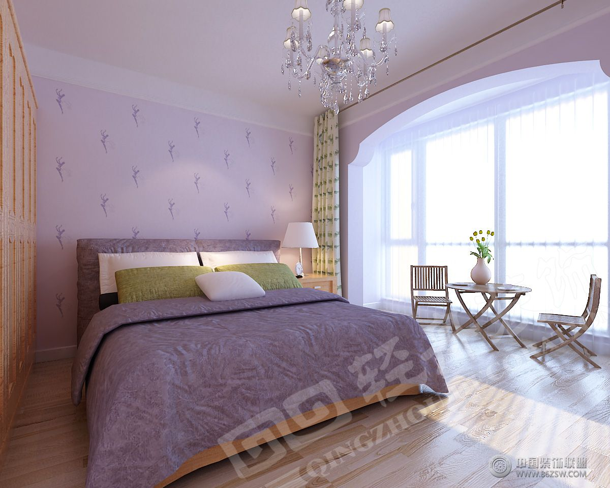 木质田园风格-卧室装修效果图-八六(中国)装饰联盟