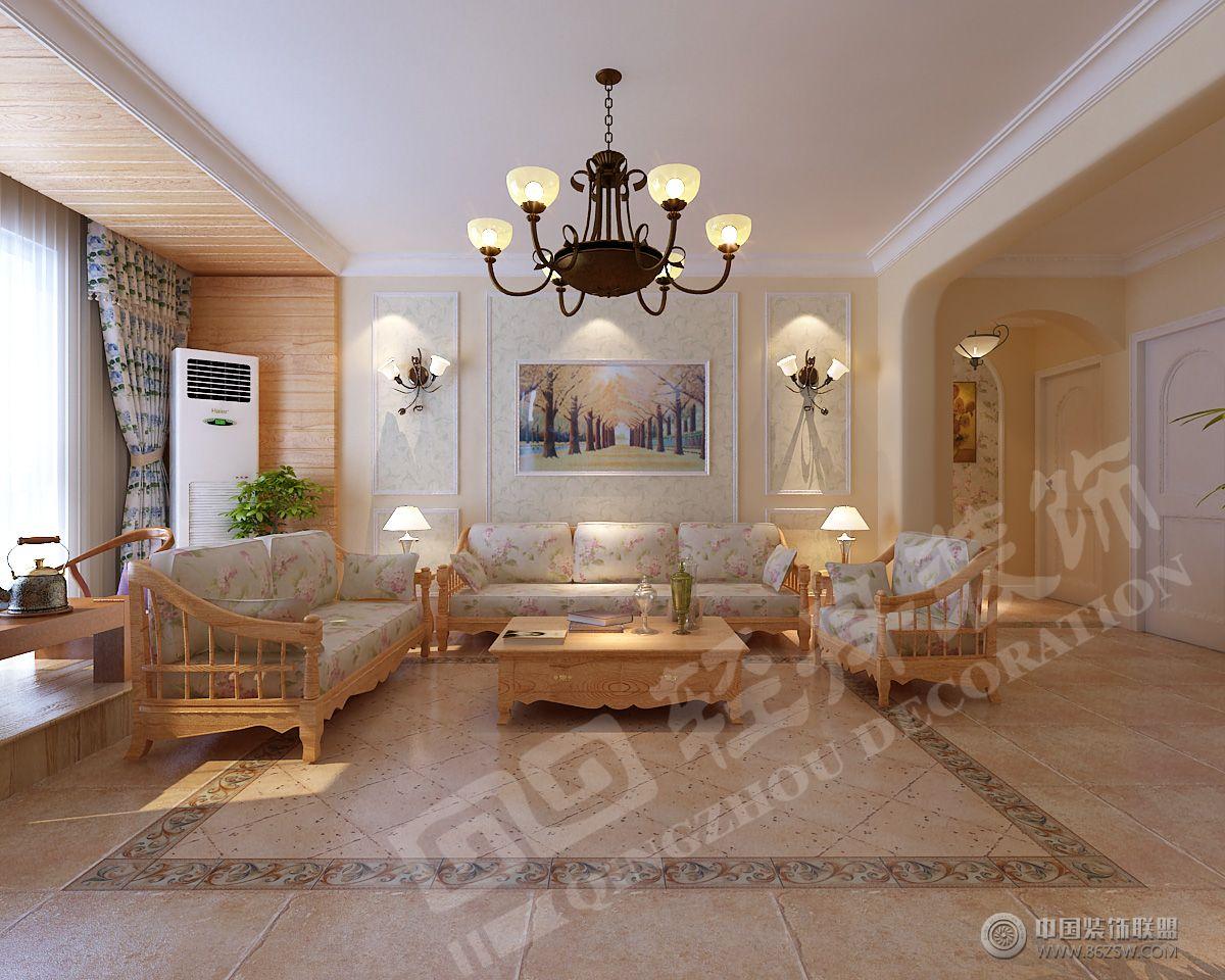 木质田园风格田园客厅装修图片