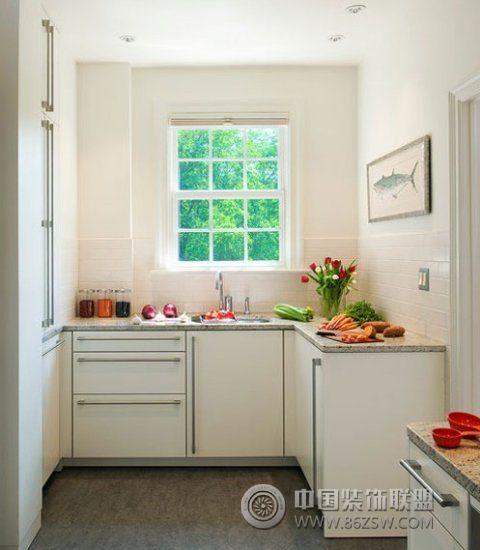 美式风格厨房装修案例-过道装修效果图-八六装饰网