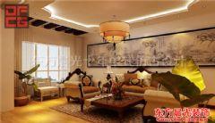 温馨舒适现代别墅装修设计中式风格大户型
