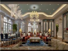 雅居乐独栋法式风格案例效果图美式风格别墅
