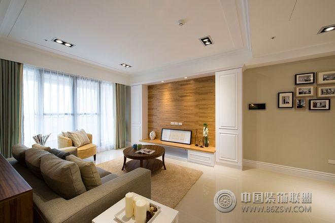 108平简约原木色温馨装修案例-客厅装修效果图-八六()