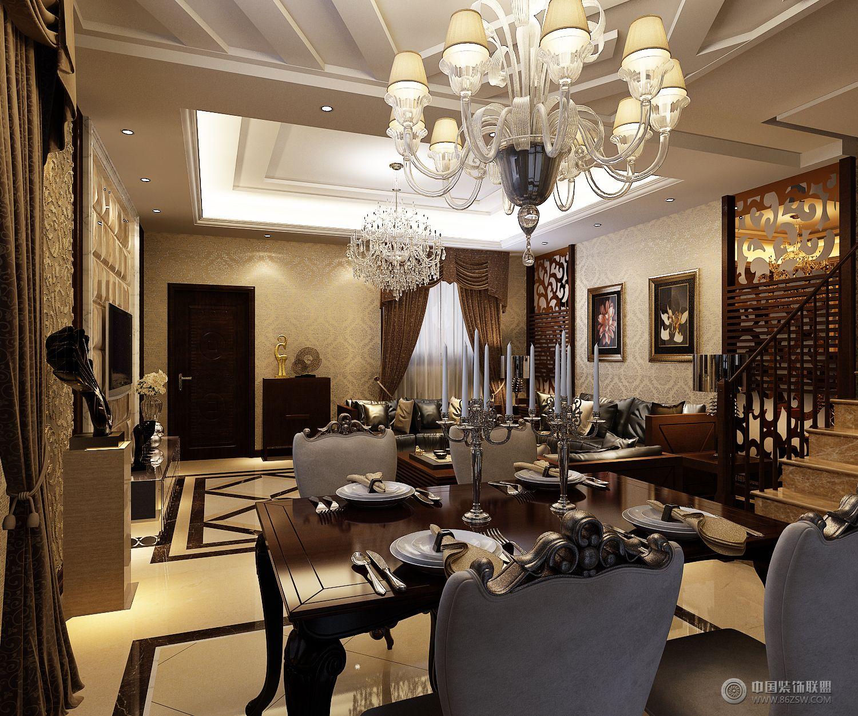 品味欧式的古典艺术-餐厅装修效果图-八六(中国)装饰