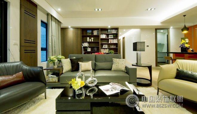 123平现代简约婚房 客厅装修效果图 八六装饰网装修效果图