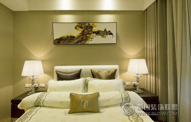 123平现代简约婚房 客厅装修效果图