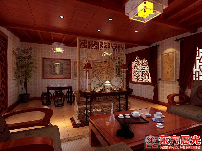 中式风格茶馆设计古典温馨茶馆装修图片图片