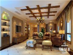 成都尚层装饰别墅装修休闲美式的风格案例欣赏美式风格别墅