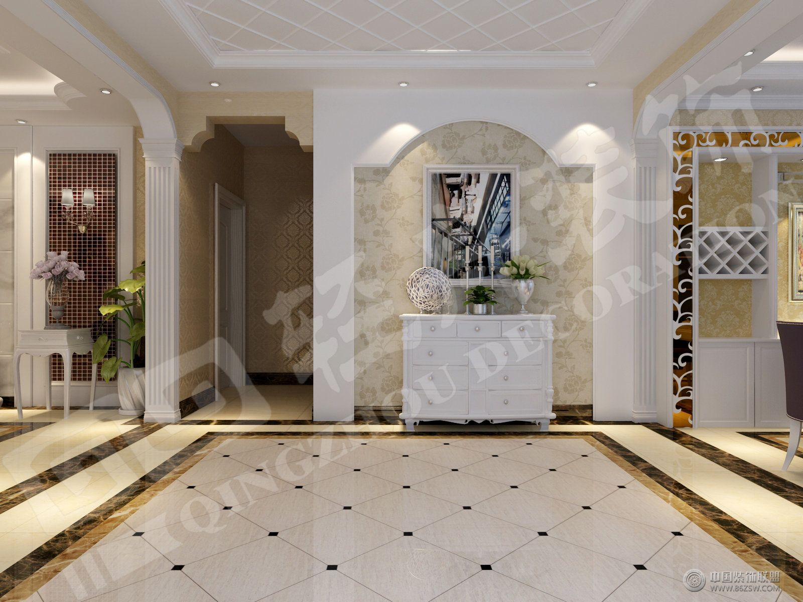 欧式风格玄关装修效果图图片
