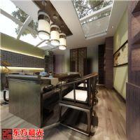 浅色系简朴中式茶馆设计