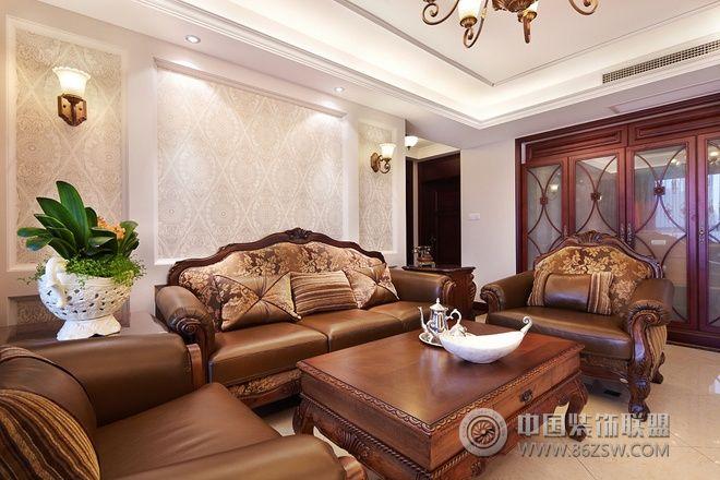 中式欧式混搭雅居混搭客厅装修图片