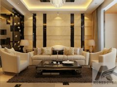 保利时代现代风格二居室