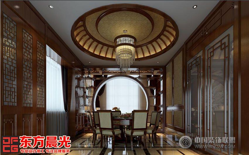 古典新中式餐廳設計-單張展示-餐館裝修效果圖-八六()