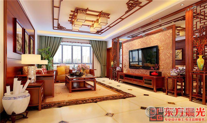 中式风格别墅设计效果图 客厅装修效果图 八六 中国 装饰联盟
