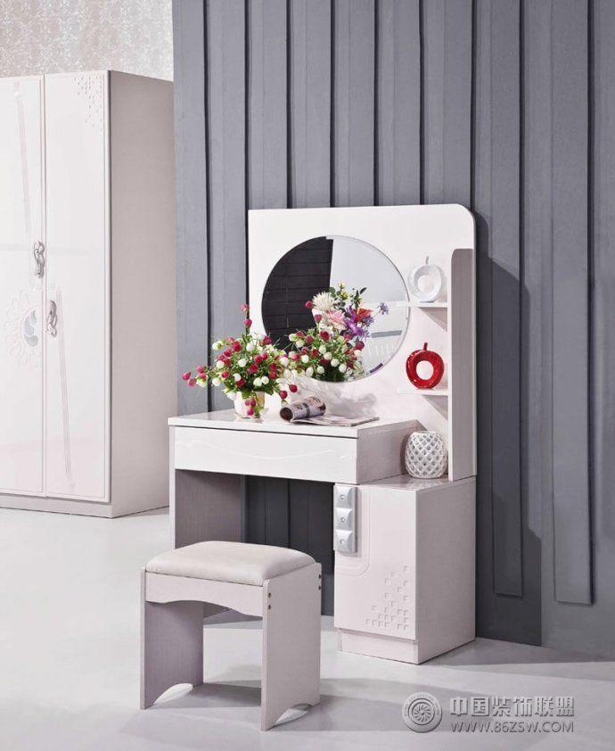 潮女梳妆台创意设计-卧室装修图片