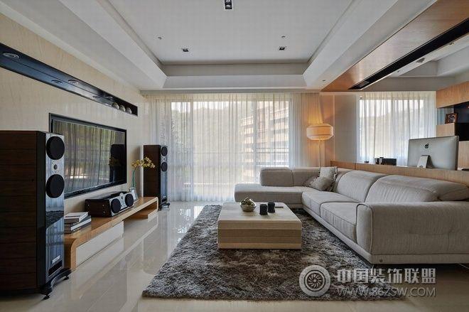 140平现代简约时尚婚房 客厅装修效果图 -140平现代简约时尚婚房 客
