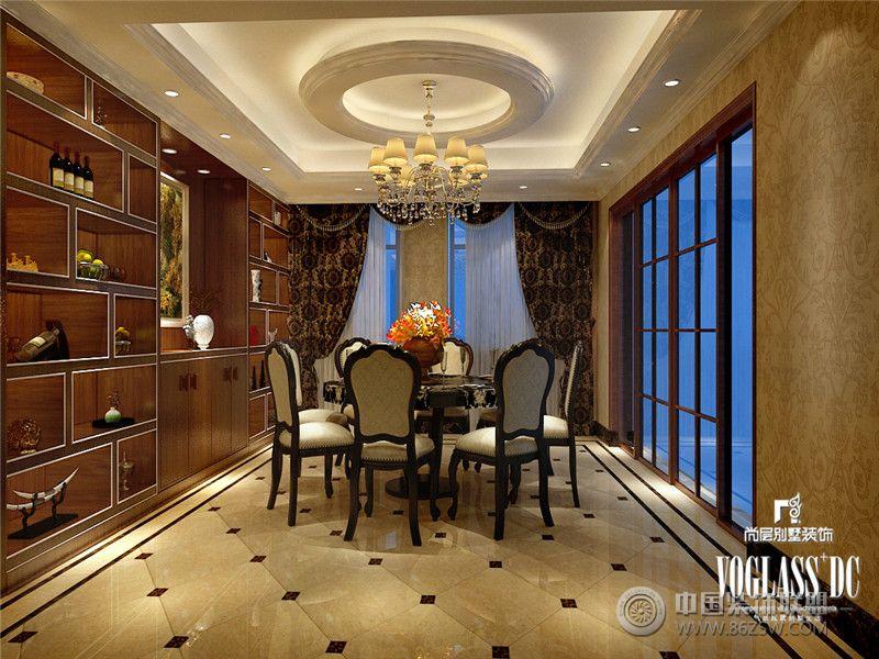 成都尚层装饰别墅装修保利蝴蝶谷欧式风格案例推荐-餐厅装修图片