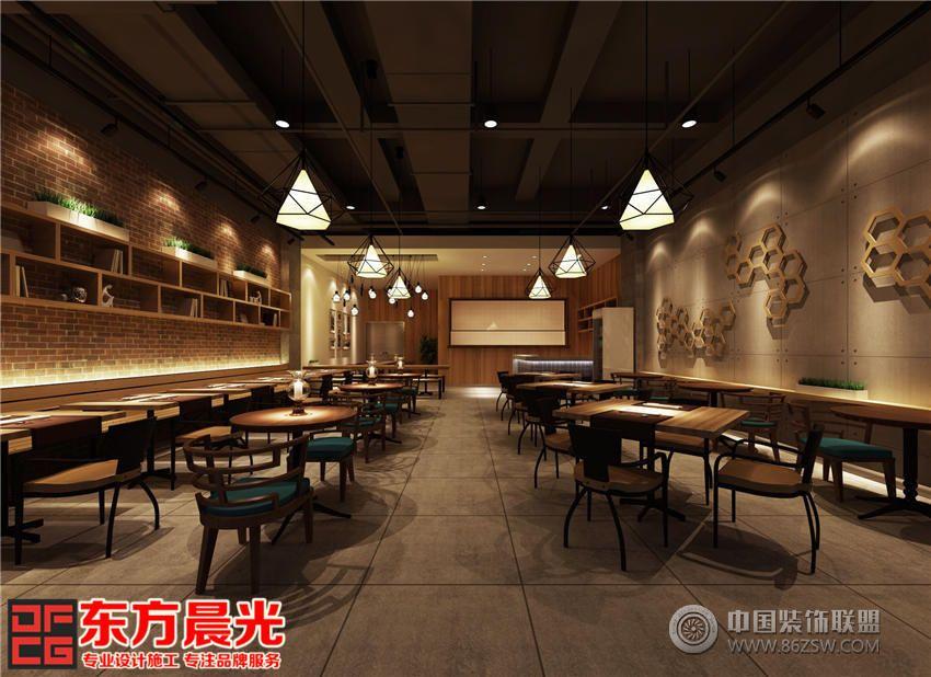 中式设计餐厅装修效果图|餐厅装修餐馆装修图片