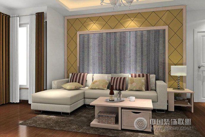 最新客厅沙发背景墙创意设计现代风格客厅装修效果图