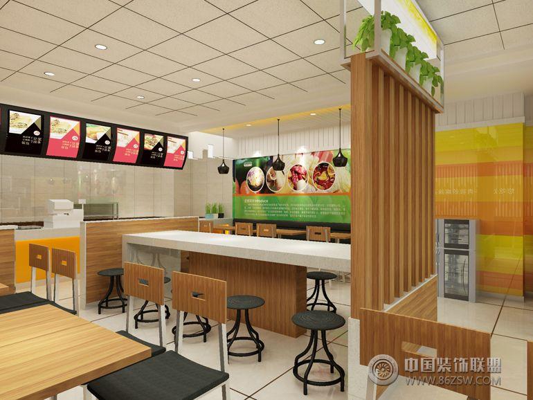 银龙香汁简餐厅-单张展示-餐厅装修效果图-八六装饰网
