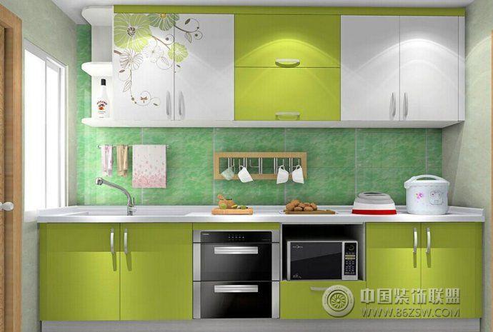 时尚厨房清新搭配设计 客厅装修效果图 八六装饰网装修效