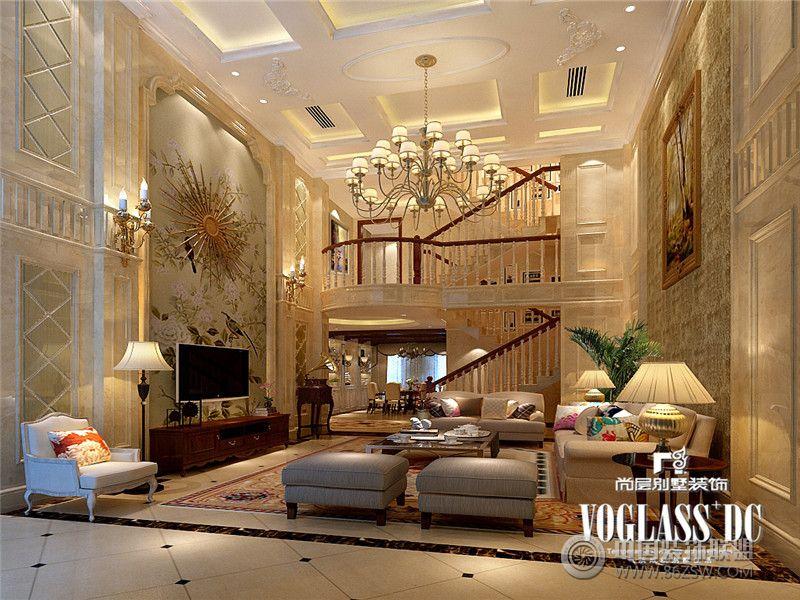 成都尚层装饰别墅装修保利蝴蝶谷优雅欧式风格案例