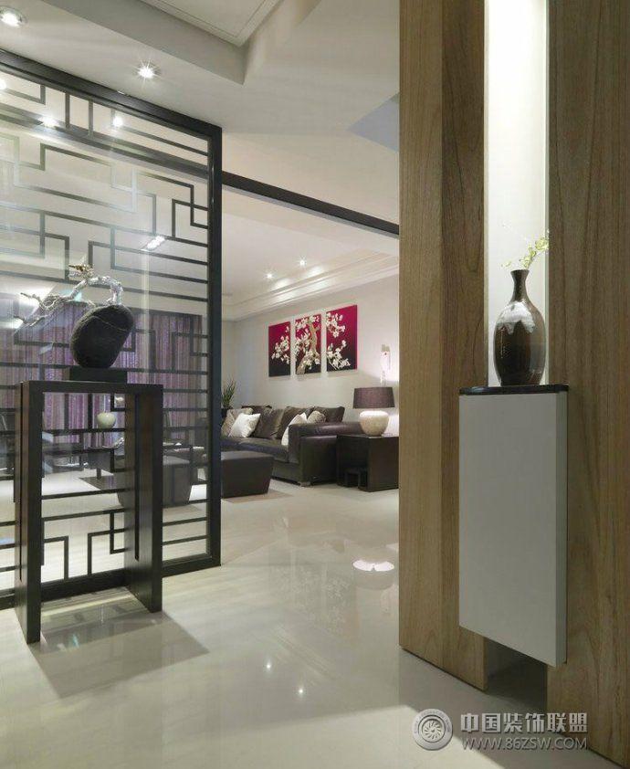 最新玄关收纳设计-客厅装修效果图-八六装饰网装修