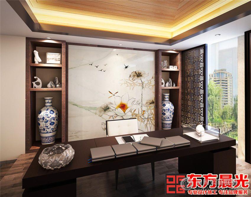 古风别墅装修设计满室花影迷离 书房装修效果图 八六 中国 装饰联盟装