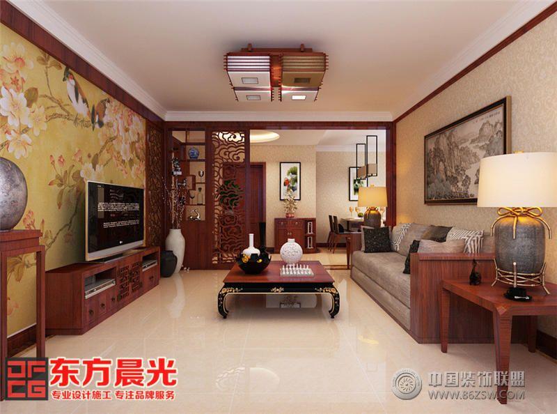 翠林青苑中式别墅设计效果图中式客厅装修图片