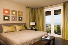 卧室窗帘颜色搭配设计