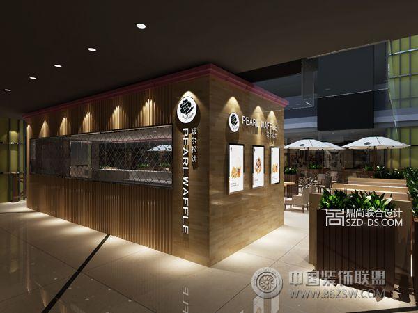 连锁咖啡店设计pearl waffle东莞星玺店简约餐厅装修图片