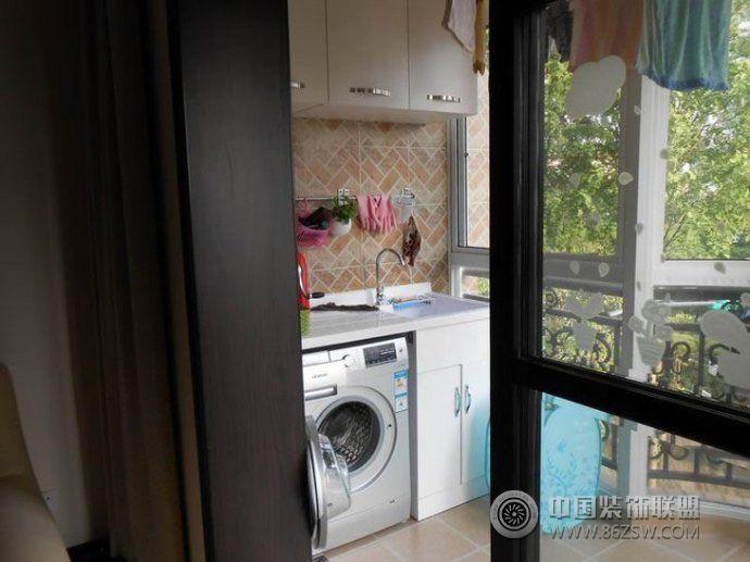 小户型阳台改造洗衣间创意设计现代阳台装修图片