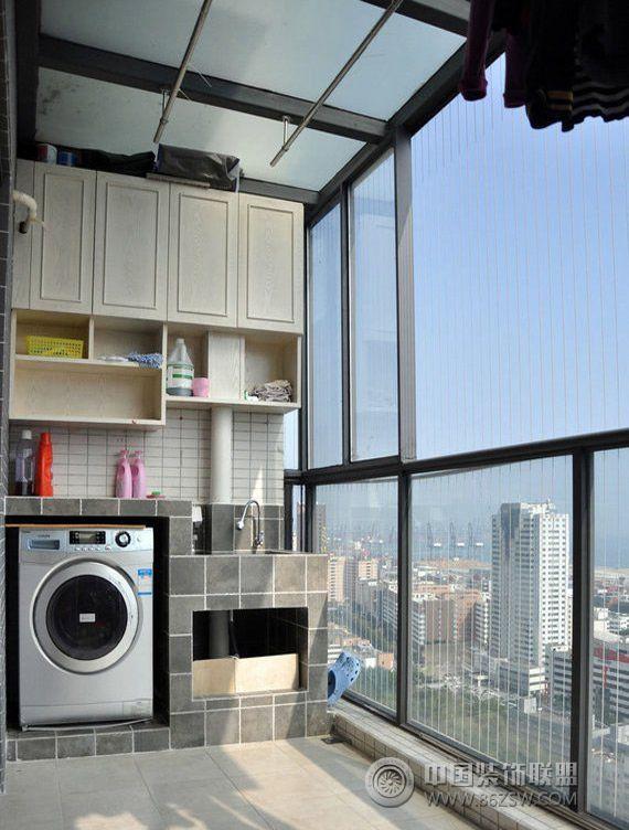 小户型阳台改造洗衣间创意设计 客厅 装修效果图 八六