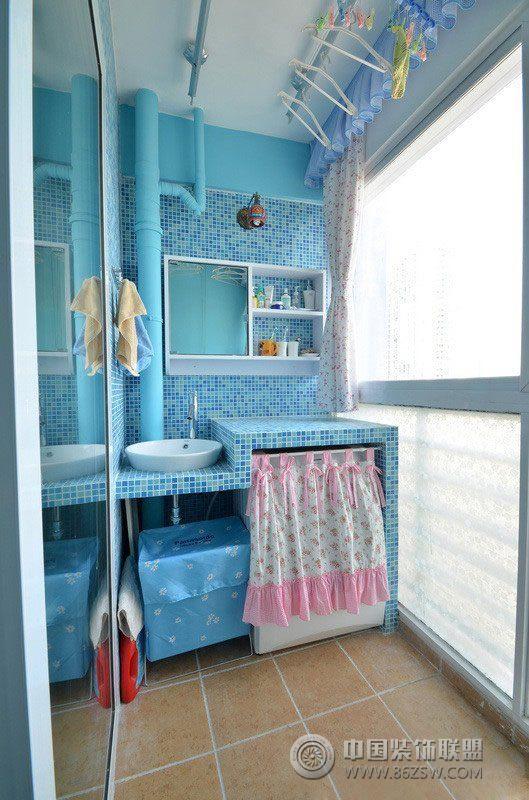 小戶型陽臺改造洗衣間創意設計現代陽臺裝修圖片