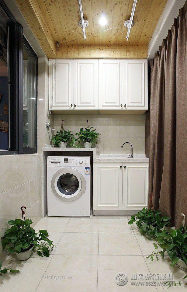 小户型阳台改造洗衣间创意设计图片