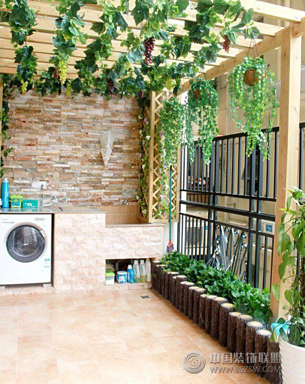 小户型阳台改造洗衣间创意设计-客厅装修效果图-八六