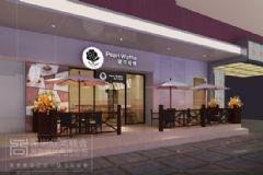 时尚餐饮空间设计-深圳玻尔松饼东门餐饮店设计