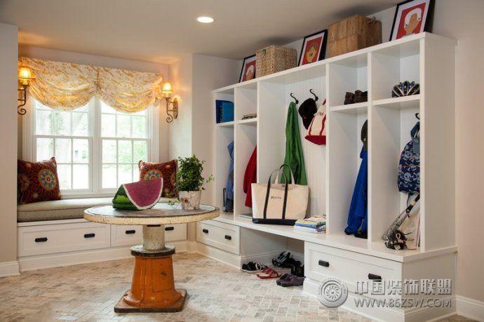 2014最新玄关收纳柜设计-客厅装修效果图-八六装饰网