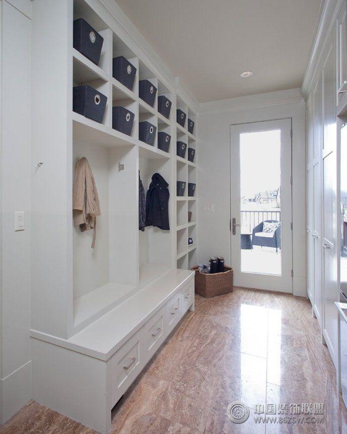 2014最新玄关收纳柜设计-客厅装修图片
