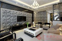 烟台广来装饰碧海绿洲装修案例现代风格三居室