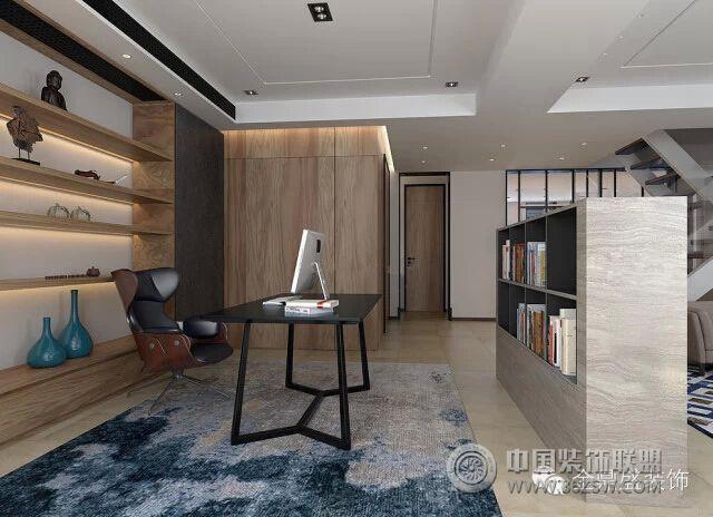 书香之家的极简现代住宅简约书房装修图片