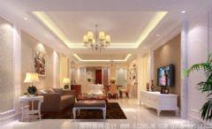 深圳豪宅装修设计- 宏发领域家装欧式风格四居室