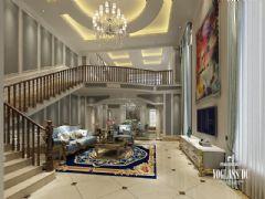 成都尚层装饰别墅装修乐山金水湾法式风格案例欣赏美式风格别墅
